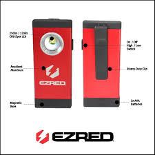 Magnetic Pocket Light Ez Red Spa250bk 250 Lm Cob Led Pocket Light Magnetic Base