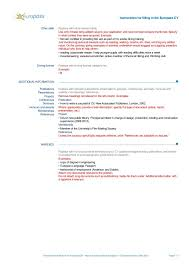 Resume Building Instructions Example Good Resume Template Ambrion
