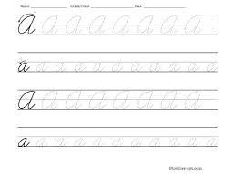 Cursive Practice Pdf Worksheet Make Your Own Handwriting Worksheets