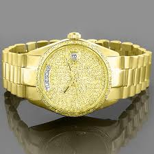 solid gold watches geneve yellow diamond watch 2ct