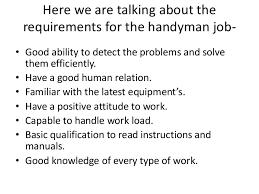 how to   handyman resume samples for handyman job