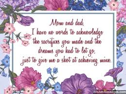 Thank You Notes For Parents Messages For Mom And Dad Fascinating Valentine Quotes For Parents