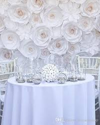 White Paper Flower Backdrop 2019 Set Giant Paper Flowers For Wedding Backdrop Decorations