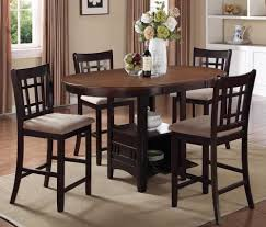 oval kitchen table set. Oval Storage Counter Height Dining Table With Extension \u0026 4 Side Chairs Kitchen Set O