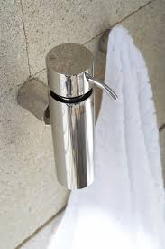 bathroom accessories blomus duo wall mounted soap dispenser polished 68574 77 39 bathroom accessories blomus duo wall mounted soap dispenser polished