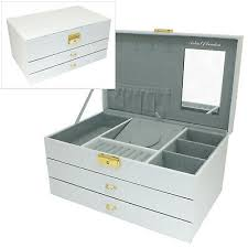 large white faux leather 2 drawer