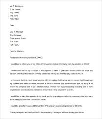 resignation letter sample one month notice   appointmentletters Pinterest