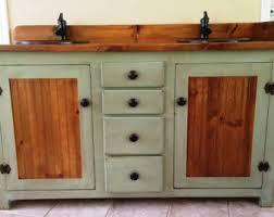 rustic pine bathroom vanities. Double Bathroom Vanity - Rustic Copper Sinks Sage Green Pine Vanities T