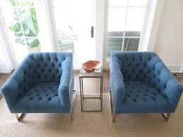 blue contemporary accent chairs for living room