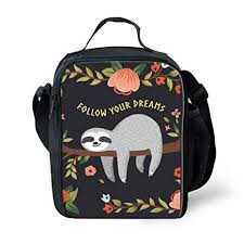 <b>Nopersonality</b> Sloth Lunch Bag for Kids Insulated Lunch Box Cute ...