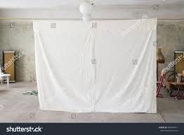 hanging sheet bed sheet hanging homemade projector screen stock photo download