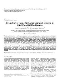 Pdf) Performance Appraisal And Its Effects On...