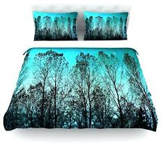 sylvia cook dark forest blue trees duvet cover cotton twin contemporary navy blue duvet covers twin