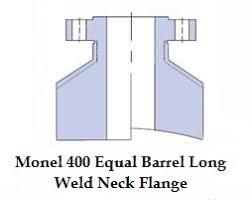 Inconel Equal Barrel Long Welding Neck Forged Flanges
