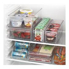 fridge bins and organizer and tray from crate and barrel