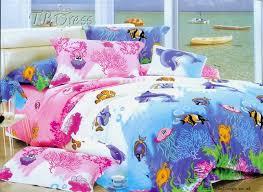sea world animals 100 cotton comforter 4 piece bedding sets white navy 1103516
