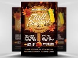 Apple Flyer Templates Fall Festival Flyer Template 3 Flyerheroes Free Blank Flyer