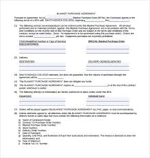 Blanket Purchase Agreements blanket purchase order agreement template blanket purchase 2