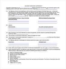 Blanket Purchase Agreement blanket purchase order agreement template blanket purchase 2