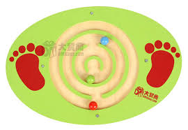 Wooden Bead Game Sensory integration training outdoor toys foot wooden bead 54