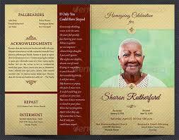 Funeral Brochure Template Sample Funeral Program Template Download