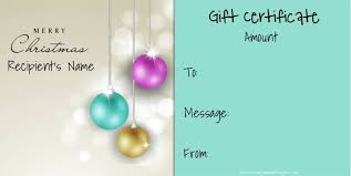 Younique Gift Certificate Template Christmas Gift Certificate Templates That Can Be Personalized For