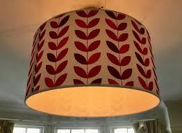 lamp shade by benelux 50cm 20 fl rust red petal handmade printed fabric in earlsfield london gumtree