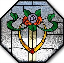 custom made octagon stained glass window