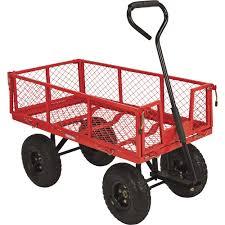 ironton steel garden wagon 400 lb capacity 34in l x 18in
