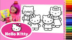 Free hello kitty coloring pages for you to color online, or print out and use crayons, markers, and paints. Coloring Hello Kitty Mimmy Family Coloring Book Page Colored Pencil Kimmi The Clown Youtube