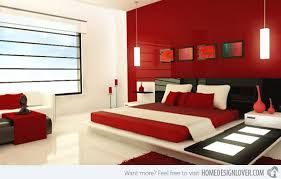 gray and red bedroom. master bedroom interior gray and red h