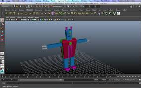 robot created in maya robot1