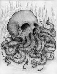 Small Picture Skull Octopus Drawing Shading Art Sketch Drawings