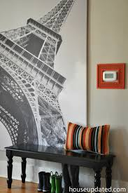 eiffel tower bathroom decor  oversized art for the entry house updated
