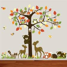 woodland animal wall decals stickers for walls zoo . Woodland Animal Wall Decals