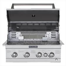 stainless steel kitchenaid built in grills detail