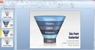 Powerpoint Funnel Chart Template Drawing A Simple Funnel Diagram In Powerpoint 2010