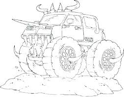 Free Grave Digger Coloring Pages Adult Coloring Pages Trucks Monster