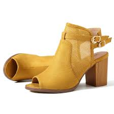 Socofy Size Chart Socofy Large Size Women Hollow Out Suede Chunky Heel Sandals