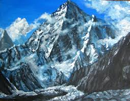 mountains painting mountains view landscape acrylic painting by natalja picugina