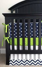 custom crib bedding lime green chevron navy blue polka dot and grey baby stripe white striped solid blue crib bedding set navy