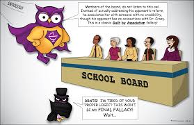 guilt by association fallacy excelsior college owl guilt by association logical fallacy comic the owl superhero