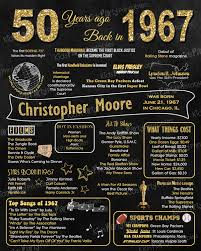 personalized 50th birthday poster birthday posters