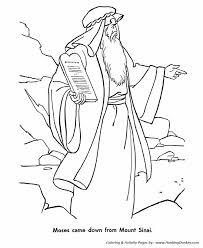 Small Picture Bible Story characters Coloring Page Sheets Moses and the Ten