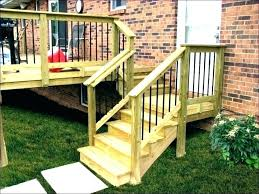 how to build deck railing installing posts corners install railings