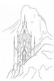 Frozen Coloring Pages Castle Coloring Pages For Kids Frozen