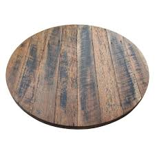 wood table tops rustic recycled round wood table top