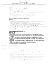 Business Intelligence Specialist Resume Samples Velvet Jobs