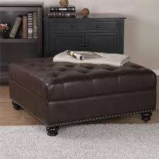 faux leather ottoman. Dorel Living Hastings Brown Tufted Faux Leather Ottoman X