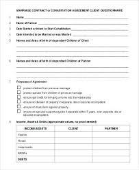 Common Law Separation Agreement Template Marriage Australia ...